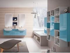 Mobile lavabo doppio sospeso con specchioBLUES 04 - BMT