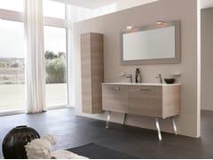 Mobile lavabo doppio con specchioBLUES 10 - BMT