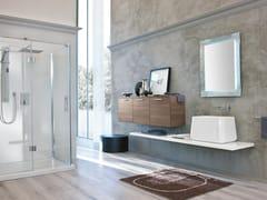Mobile bagno con piano e lavabo da appoggioBLUES 14 - BMT