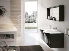 Mobile lavabo doppio sospeso con specchioBLUES 19 - BMT