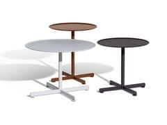 Tavolino da giardino rotondo in acciaio inoxBOB OUTDOOR - POLTRONA FRAU