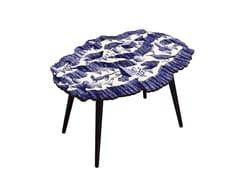 Tavolino da caffè ovale in HPL e faggioCANYON CRISTAL INDIGO - BAZARTHERAPY