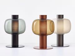 Lampada da tavolo per esterno a LED a luce diretta in acciaio inox e vetroBONBORI | Lampada da tavolo per esterno - BROKIS