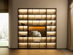 Libreria componibile in legno con illuminazione505 UP SYSTEM | Libreria - MOLTENI & C.
