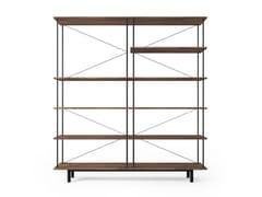 Libreria a giorno componibile in acciaio e legnoSEITON | Libreria - STELLAR WORKS