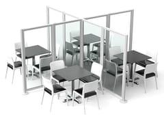 Divisorio modulare in alluminio e policarbonatoBORA - SPRECH