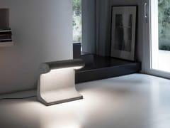 Lampada da terra a LED in cementoBORNE BÉTON GRANDE - NEMO