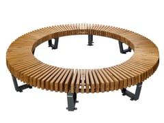 Panchina circolare in acciaio e legno senza schienaleBOSTON | Panchina circolare - PUNTO DESIGN