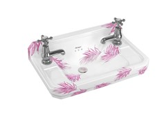 Lavamani sospeso in Vetrochina con troppopienoBOTANICAL PINK | Lavamani - BATHROOM BRANDS GROUP