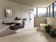Porcelanosa, BOTTEGA WHITE Pavimento in gres porcellanato effetto cemento per interni ed esterni