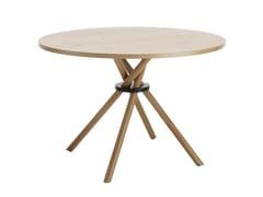 Tavolo in legno impiallacciato BOUQUET | Tavolo rotondo -