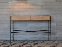 Consolle rettangolare in legno e marmo con cassettiBOUVET PORTORO - TCC WHITESTONE