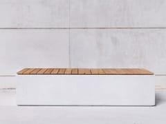 SIT, BOX W Panchina modulare in calcestruzzo senza schienale