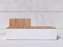 SIT, BOX WB Panchina modulare in calcestruzzo con schienale