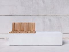 SIT, BOX WBH Panchina modulare in calcestruzzo con schienale