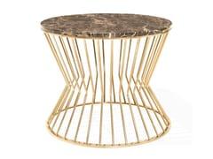 Tavolino rotondo con struttura in metallo e piano in marmoBRADLEY | Tavolino in marmo - ANA ROQUE INTERIORS