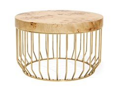 Tavolino basso con struttura in metallo e piano in legnoBRADLEY | Tavolino in legno - ANA ROQUE INTERIORS