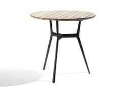 Tavolo da giardino rotondo in alluminio e legno BRANCH | Tavolo in alluminio e legno - Branch