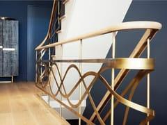Parapetto in metallo per scaleParapetto in ottone - OFFICINE SANDRINI