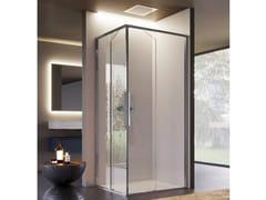 Box doccia angolare in vetro con porta scorrevoleBRAVE 04 - DISENIA SRL  BY IDEAGROUP