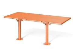 Tavolo per spazi pubblici rettangolare in acciaioBREAK TIME I | Tavolo per spazi pubblici rettangolare - METALCO