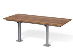 Tavolo per spazi pubblici rettangolare in acciaio e legnoBREAK TIME W | Tavolo per spazi pubblici rettangolare - METALCO