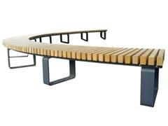 Panchina circolare in legno senza schienaleBRESSANONE - EUROFORM K. WINKLER