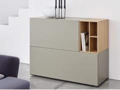 Madia componibile laccata in legno con cassetti BRICK | Madia con cassetti - Brick