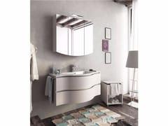 Mobile lavabo singolo sospeso con cassetti BROADWAY B13 - Urban