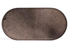 Vassoio ovale in vetro a specchioBRONZE MIRROR | Vassoio ovale - ETHNICRAFT