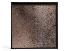 Vassoio quadrato in vetro a specchioBRONZE MIRROR | Vassoio quadrato - ETHNICRAFT