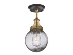 Lampada da soffitto per esterno in ottone e vetroBROOKLYN GLOBE | Lampada da soffitto - INDUSTVILLE