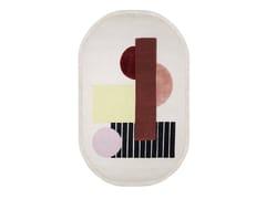 Tappeto ovale annodato a mano in lana e viscosaBROWN - WIENER GTV DESIGN