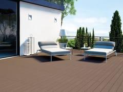 Pavimento per esterni in materiale composito effetto legno EXTERNO BROWN - Externo