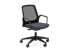 Sedia ufficio operativa ergonomica girevole in rete BUDDY IS3 270B - BUDDYis3