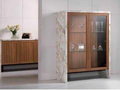 Vetrina in marmo Calacatta e legno BUFFET | Vetrina - Contemporary
