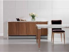 Madia in marmo Calacatta e legno BUFFET   Madia - Contemporary