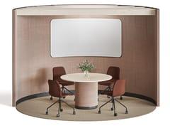 Isola ufficio multimediale in tessuto per meetingBUILDUP MEETING PAVILION R4 - GLIMAKRA OF SWEDEN