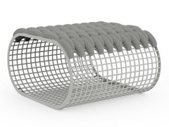 Pouf da giardino rettangolare in alluminio e tessutoBUIT | Pouf da giardino - GANDIA BLASCO