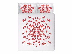 Coordinato letto jacquard in cotone con motivi florealiBUTTERFLIES KING SET - SANS TABÙ