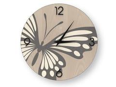 Orologio da parete in legno intarsiato BUTTERFLY COLD | Orologio - DOLCEVITA ANIMALIER