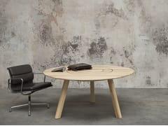 Tavolo da riunione rotondo in legno BuzziPicNic Round - BuzziPicNic