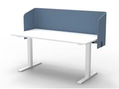Pannello divisorio da scrivania fonoassorbente in PET riciclatoBuzziTripl Wrap Desk - BUZZISPACE