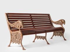 Panca da giardino in alluminio e legno con braccioliBYZANTIUM | Panca da giardino - MOYER CONTINENTAL
