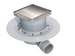 Chiusino sifonato con griglia inox per doccia a pavimento120CAMALEON N213845 - REDI