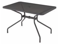 Tavolo da giardino rettangolare in acciaio CAMBI | Tavolo rettangolare - Cambi