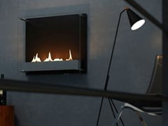 Caminetto in acciaio inox e vetro a bioetanolo a pareteCAMBRIDGE 600 - SPARTHERM® FEUERUNGSTECHNIK