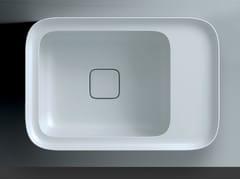 Lavabo da incasso soprapiano rettangolare in ceramicaCAMEO | Lavabo da incasso soprapiano - VALDAMA