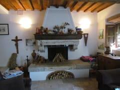 GH LAZZERINI, Caminetto 21 Caminetto in pietra naturale a parete