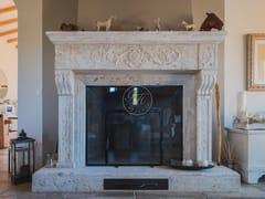 GH LAZZERINI, Caminetto 22 Caminetto in pietra naturale a parete